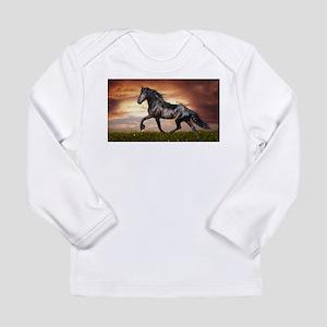 Beautiful Black Horse Long Sleeve T-Shirt