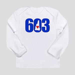 603 NEW HAMPSHIRE LOVE Long Sleeve T-Shirt