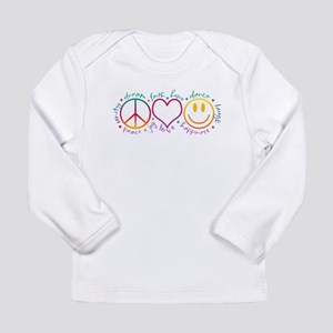 Peace Love Laugh Long Sleeve Infant T-Shirt
