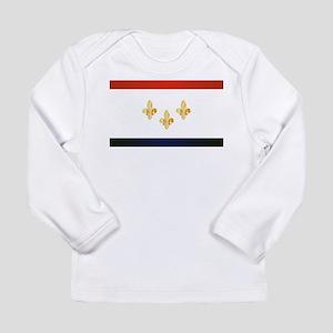 New Orleans City Flag Long Sleeve T-Shirt