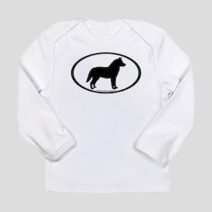 Siberian Husky Dog Oval Long Sleeve Infant T-Shirt