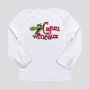 Cajun Wineaux gator Long Sleeve Infant T-Shirt