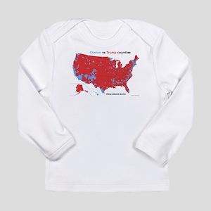 Trump vs Clinton Map Long Sleeve Infant T-Shirt