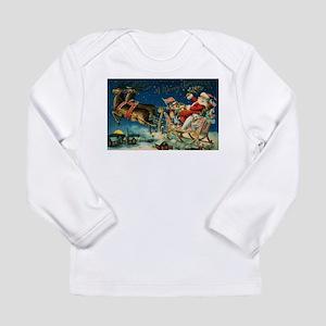 Vintage Santa Sleigh Long Sleeve T-Shirt