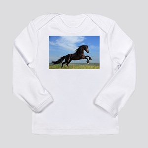 Black Horse Running Long Sleeve T-Shirt