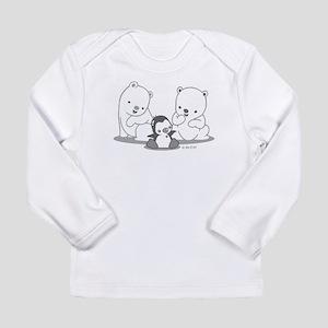 Polar Bears & Penguin Long Sleeve T-Shirt