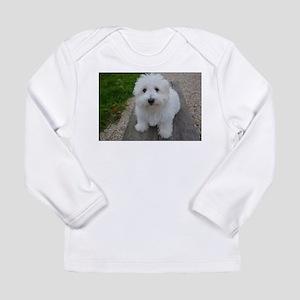 coton de tulear on bench Long Sleeve T-Shirt