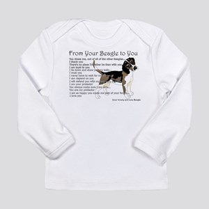 A Beagle's letter to you Long Sleeve T-Shirt