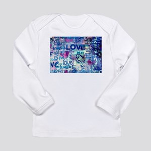Abstract Love Painting Long Sleeve T-Shirt