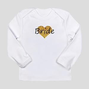 bride gold glitter heart Long Sleeve T-Shirt