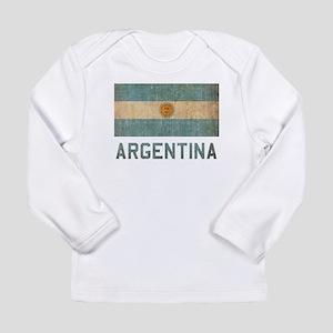 Vintage Argentina Long Sleeve Infant T-Shirt