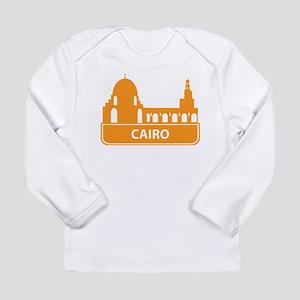 National landmark Cairo silhou Long Sleeve T-Shirt