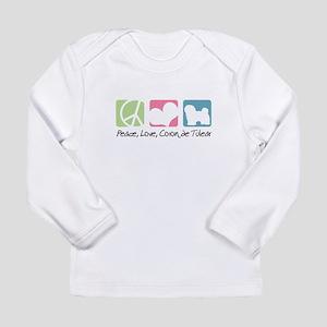 Peace, Love, Coton de Tulear Long Sleeve Infant T-