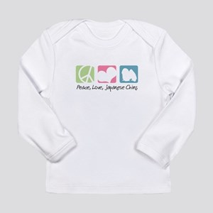 Peace, Love, Japanese Chins Long Sleeve Infant T-S
