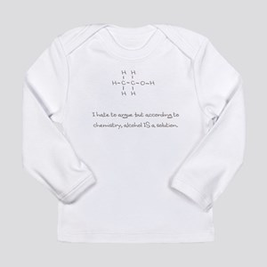 Alcohol is a solution Long Sleeve Infant T-Shirt