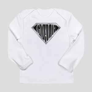 SuperGoalie(metal) Long Sleeve Infant T-Shirt