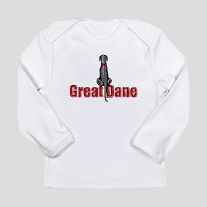 Black Great Dane UC Fence Sit Long Sleeve Infant T