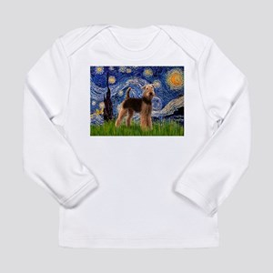 Starry Night Airedale (1) Long Sleeve Infant T-Shi