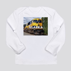 Alaska Railroad engine locomot Long Sleeve T-Shirt