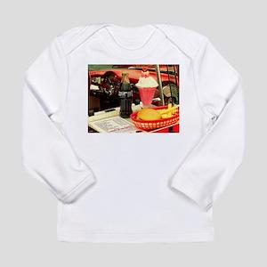 vintage rockabilly burger frie Long Sleeve T-Shirt