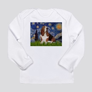 Starry Night Basset Long Sleeve Infant T-Shirt
