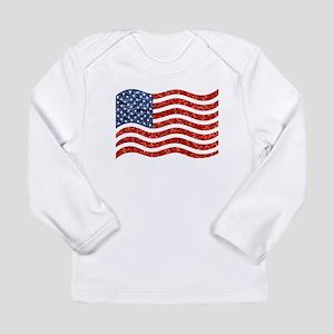sequin american flag Long Sleeve T-Shirt