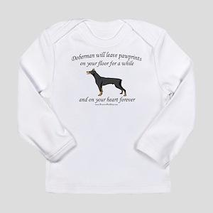 Doberman Pawprints Long Sleeve Infant T-Shirt
