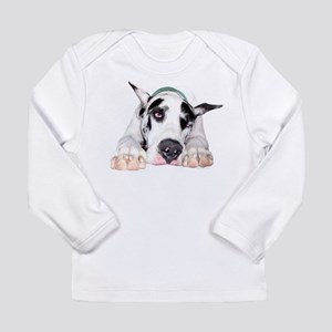 Great Dane Shy Harlequin Long Sleeve Infant T-Shir