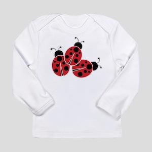 Trio of Ladybugs Long Sleeve T-Shirt