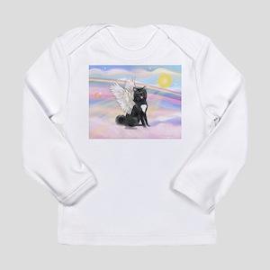 Black Akita Angel Long Sleeve Infant T-Shirt