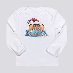 Xmas Swim Long Sleeve Infant T-Shirt