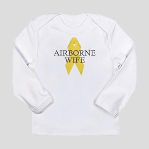 Airborne Wife Ribbon Long Sleeve Infant T-Shirt