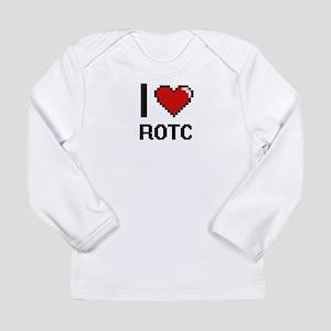 I Love Rotc Digital Design Long Sleeve T-Shirt