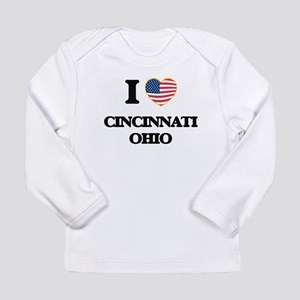 I love Cincinnati Ohio Long Sleeve T-Shirt