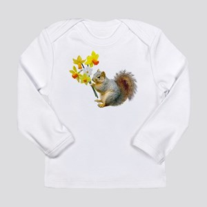 Squirrel Daffodils Long Sleeve Infant T-Shirt