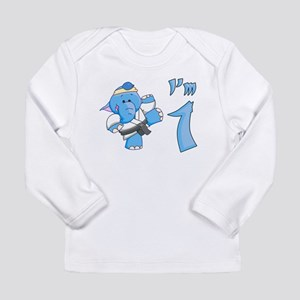 Elephant Karate First Birthda Long Sleeve Infant T