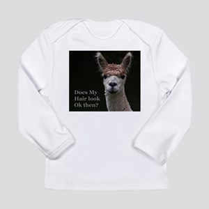 Alpaca with funny hairstyle Long Sleeve T-Shirt