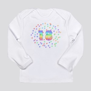 18th Birthday Pastel Stars Long Sleeve Infant T-Sh
