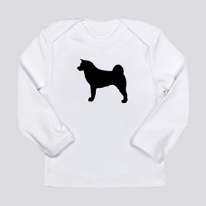 akita silhouette Long Sleeve T-Shirt