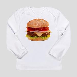 yummy cheeseburger photo Long Sleeve Infant T-Shir