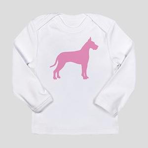 Pink Great Dane Long Sleeve Infant T-Shirt