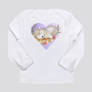 Little wolf sleeping Long Sleeve Infant T-Shirt