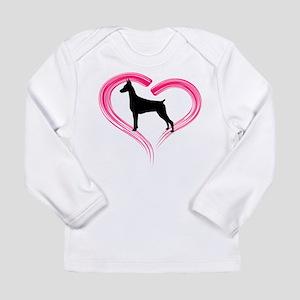 Heart My Doberman Long Sleeve Infant T-Shirt