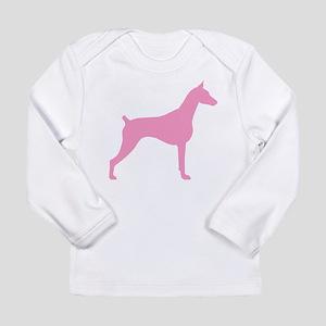 Pink Doberman Long Sleeve Infant T-Shirt