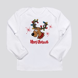 Merry Christmas Reindeer Infan Long Sleeve T-Shirt
