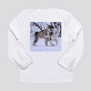 Wolves Playing Long Sleeve Infant T-Shirt