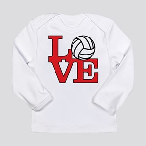 Volleyball Love - Red Long Sleeve Infant T-Shirt