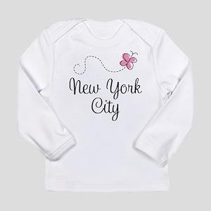 New York City Butterfly Long Sleeve T-Shirt