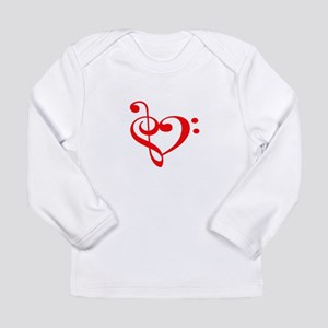 TREBLE MUSIC HEART Long Sleeve T-Shirt
