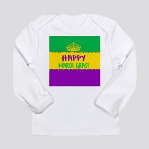 Happy Mardi Gras Crown and Bea Long Sleeve T-Shirt